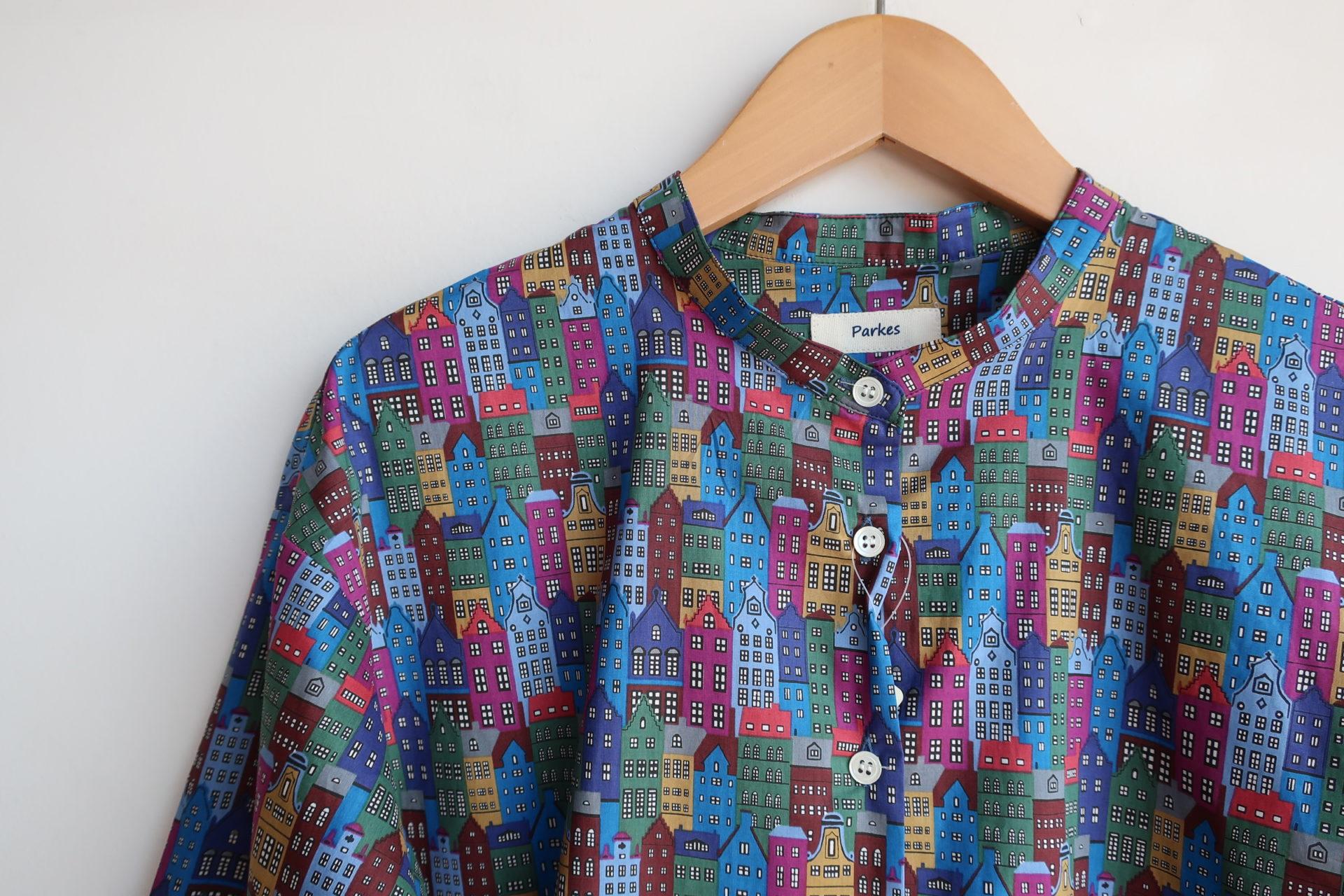 Parkes リバティCopenhagen Streetバンドカラーシャツ(sold out)