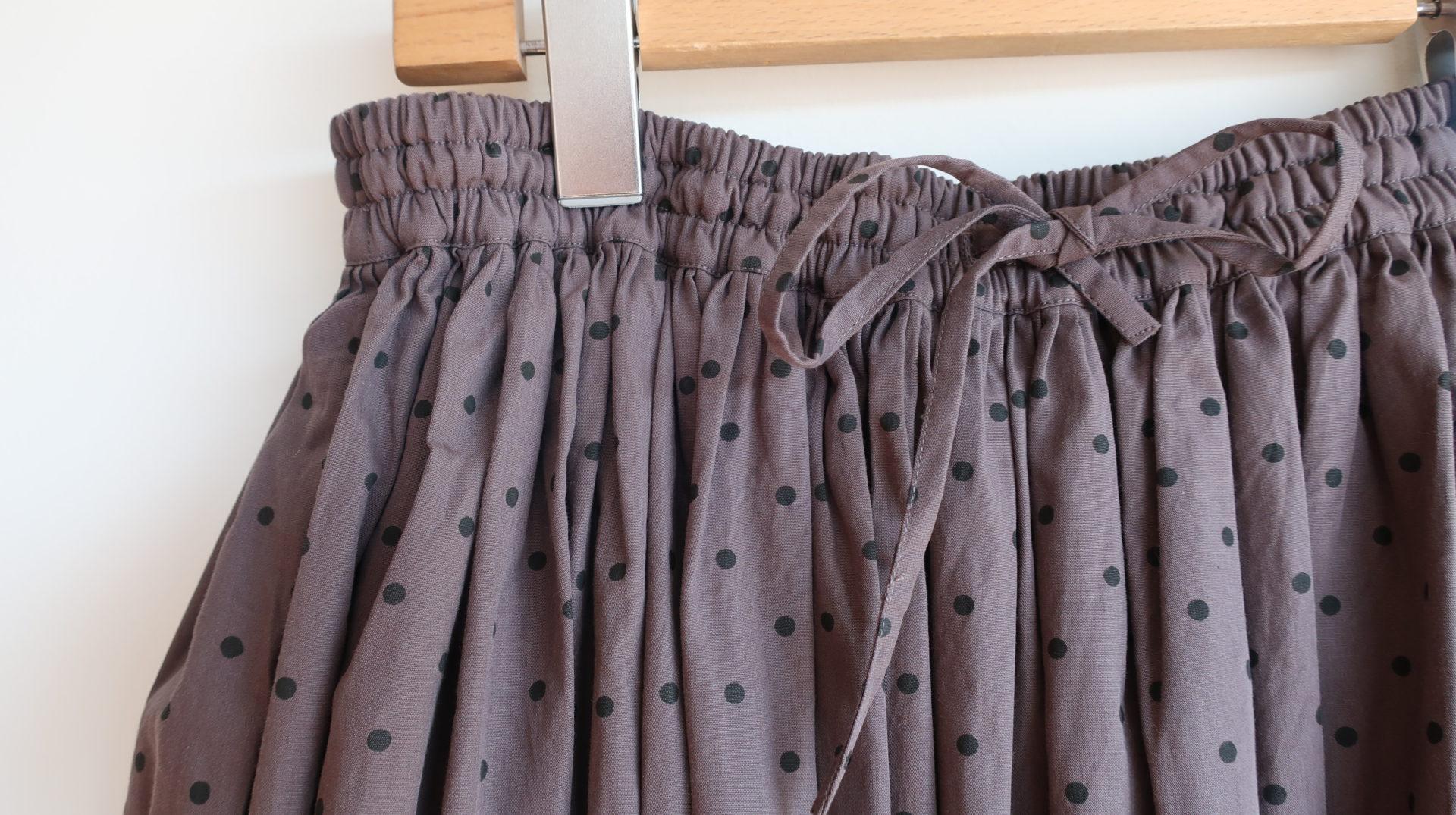 (30%off)SOIL ポプリンドットギャザースカート