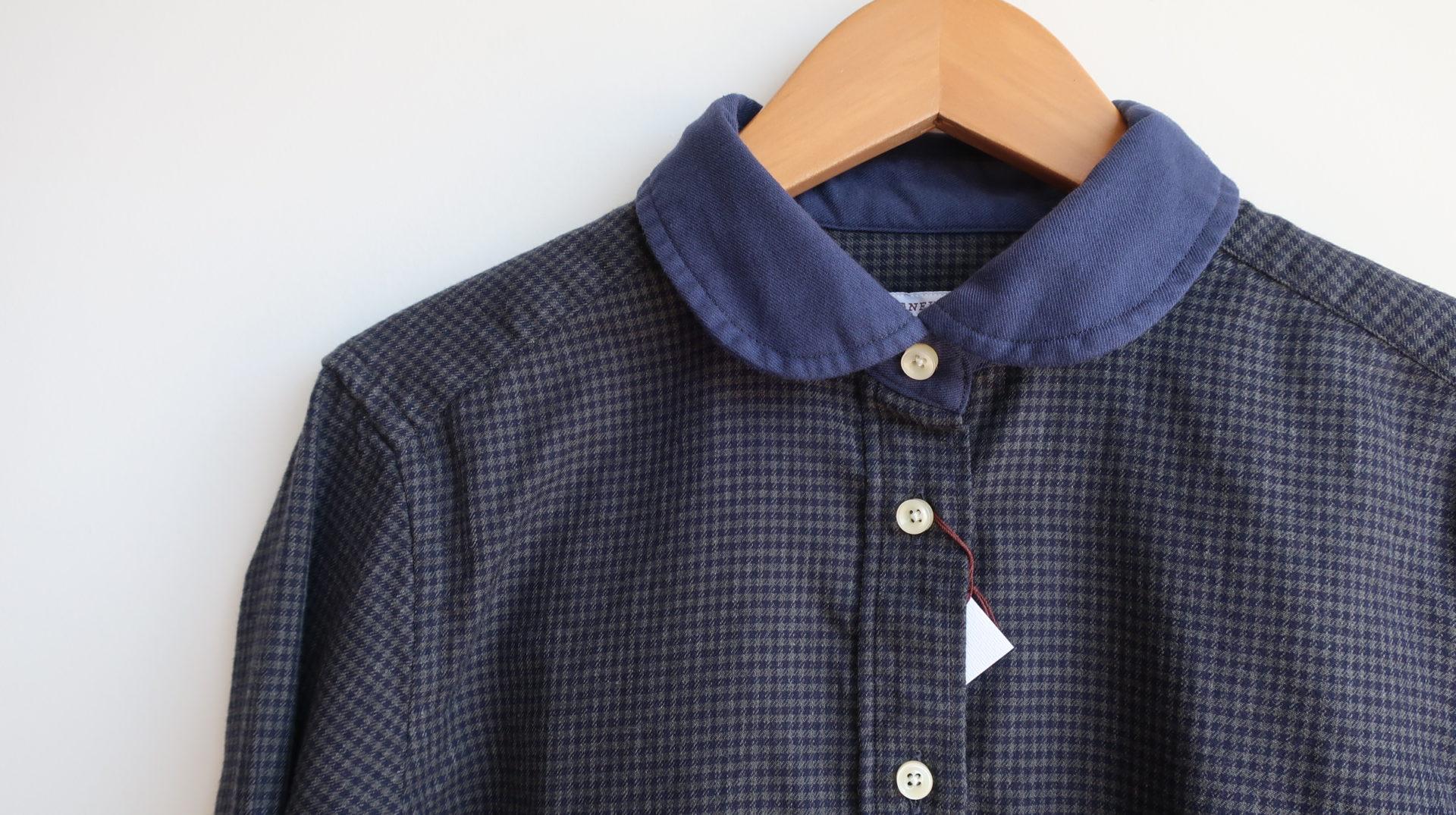 faneuil ツイルチェックラウンドチップカラーシャツ(sold out)