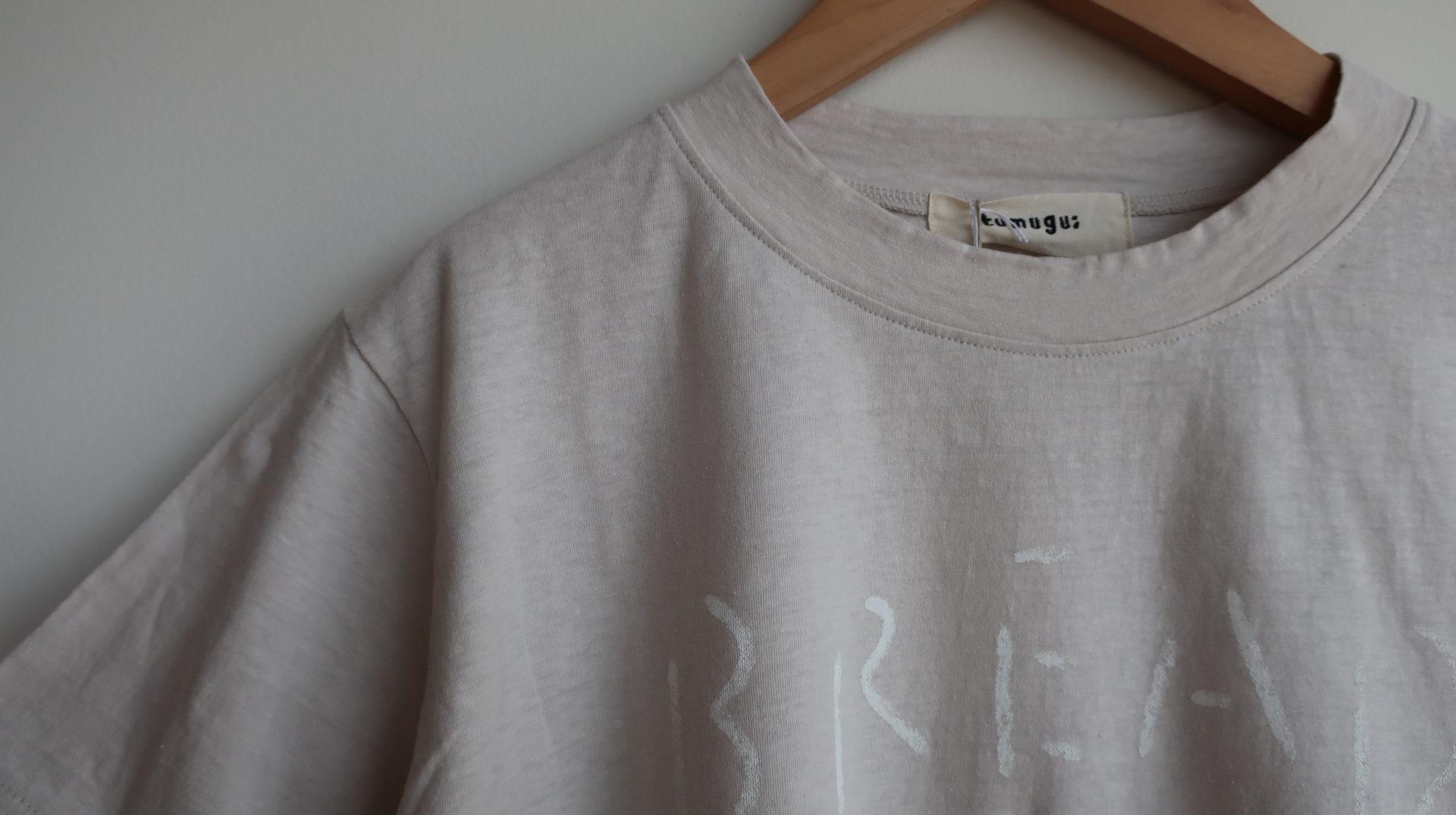 tumugu: ラフィ天竺プリントTシャツ