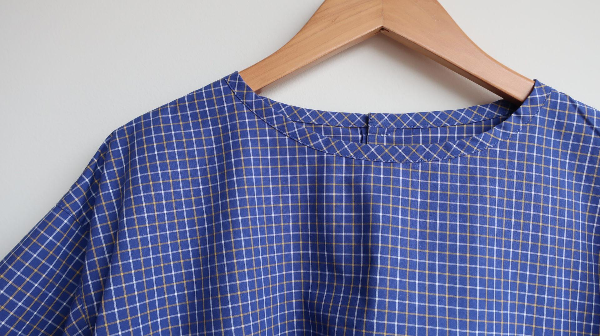 Sarahwear コットンポプリンマリンシャツ